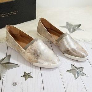 Frye Melanie slip on sneakers metallic moonlight